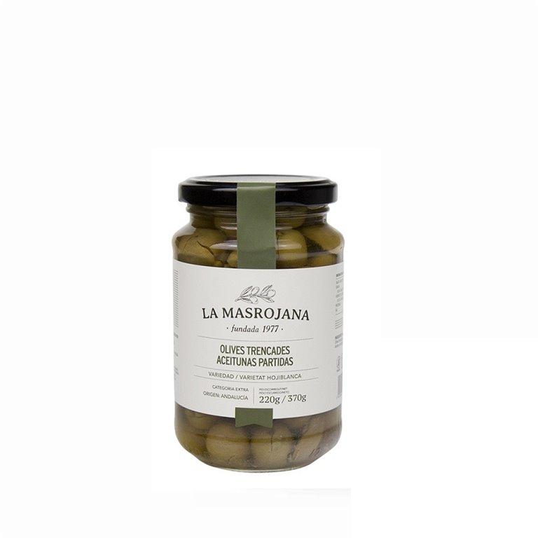 Aceitunas Partidas La Masrojana 220 gr., 1 ud