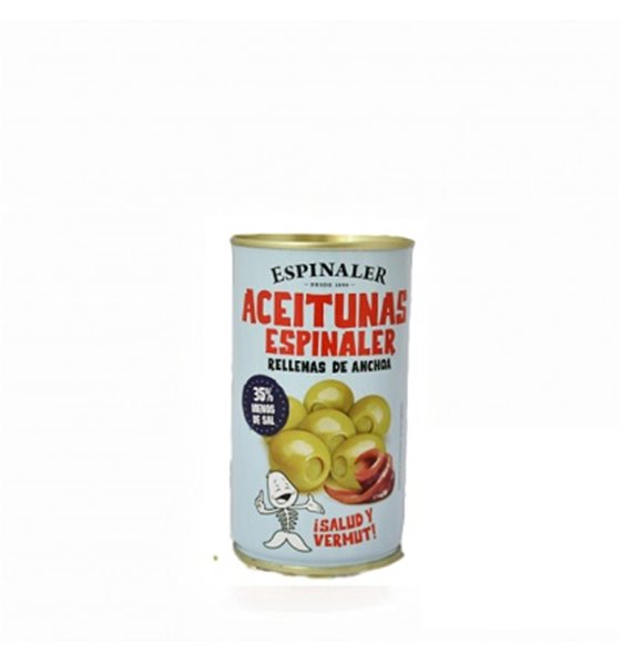 Aceitunas Rellenas Bajas en Sal Espinaler 350 gr.