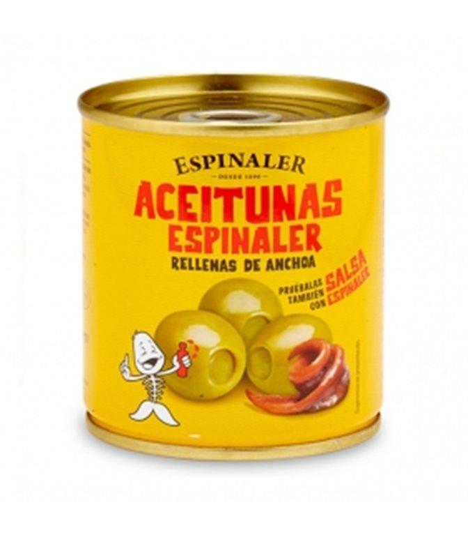 Aceitunas rellenas de anchoa 200gr. Espinaler. 30un.