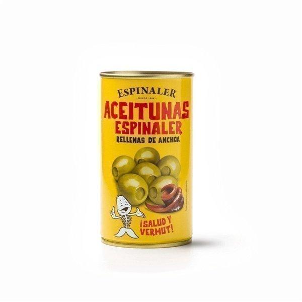Aceitunas Rellenas de Anchoa Espinaler 1450 gr.
