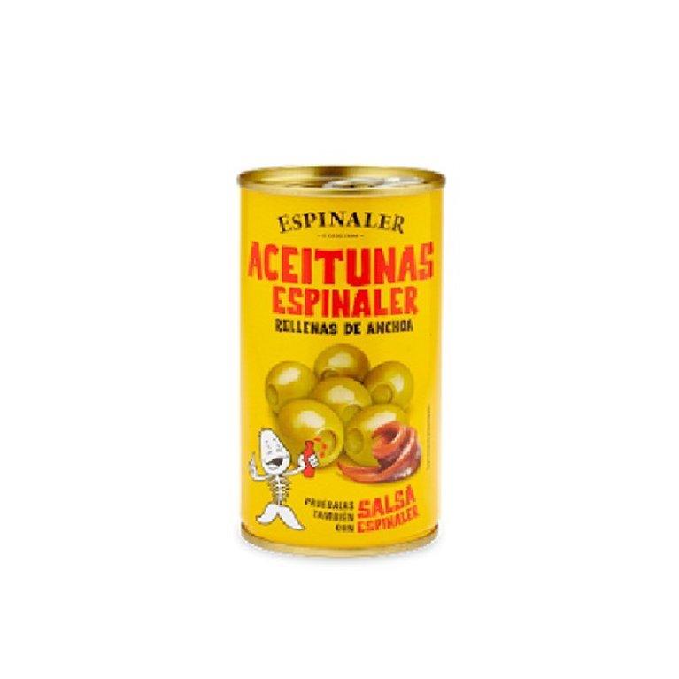 Aceitunas Rellenas de Anchoa Espinaler 350 gr., 1 ud