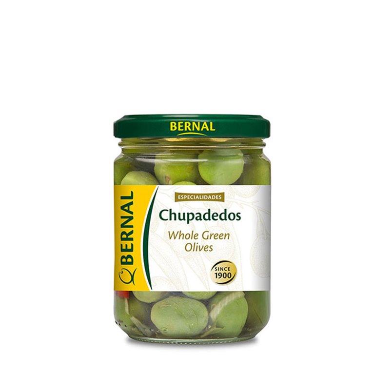 "Aceitunas variedad Campo Real aliñadas ""Chupadedos"""