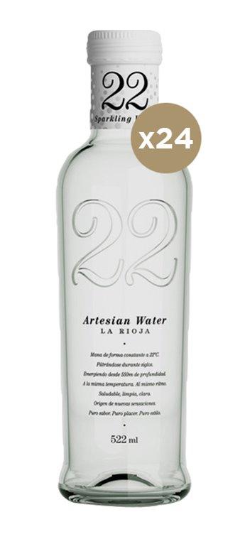Agua 22 Artesian con Gas 522ML 20 Unidades
