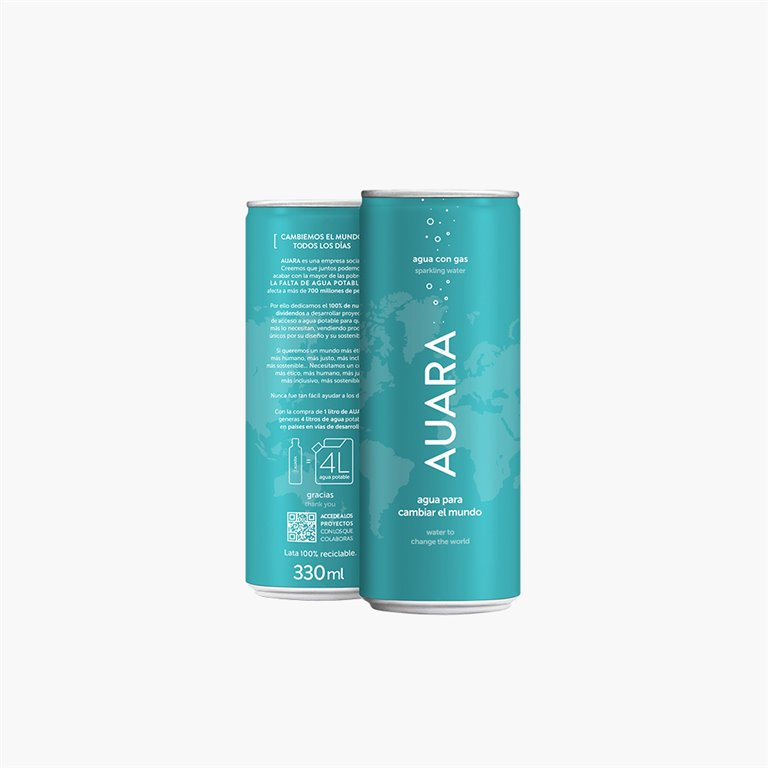 Agua mineral con gas 0.33L AUARA