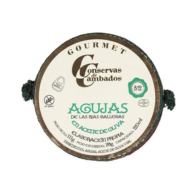 Agujas en Aceite de Oliva 8/12 111gr Conservas Cambados