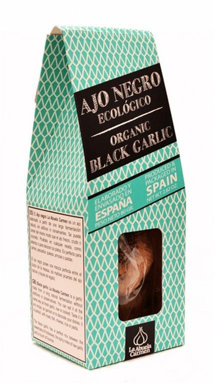 Ajo negro entero Ecológico, 140 gr