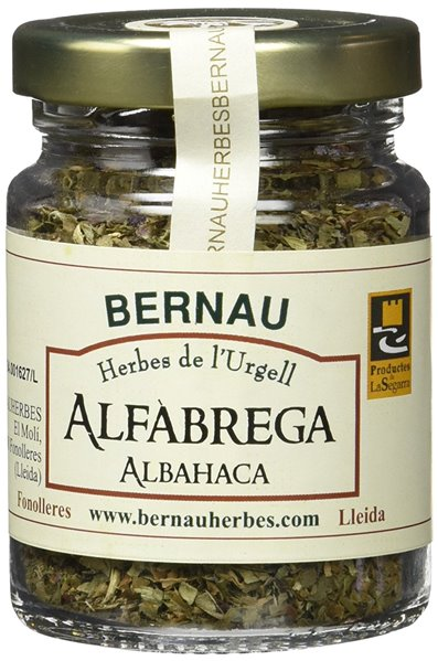 Albahaca 15gr. Bernau Herbes de l'Urgell. 12un.
