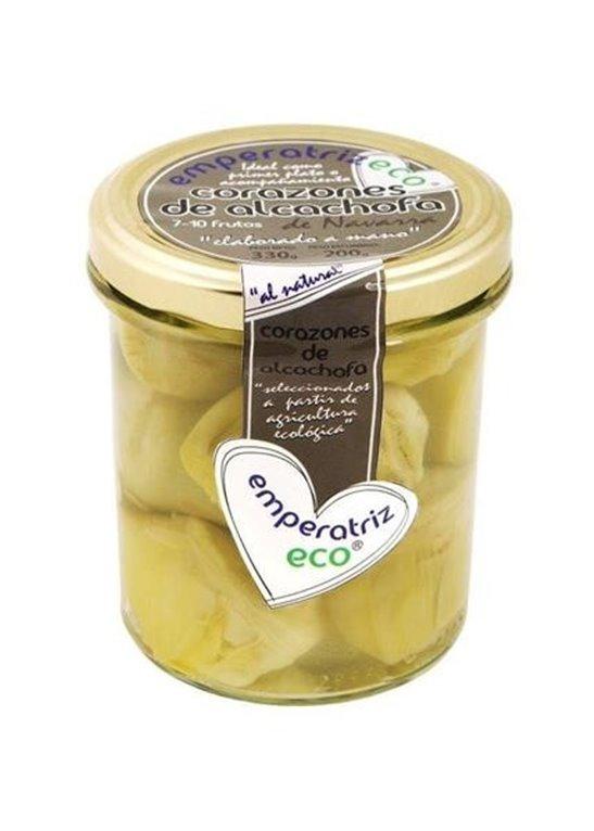 Alcachofa corazones al natural vidrio, 330 gr