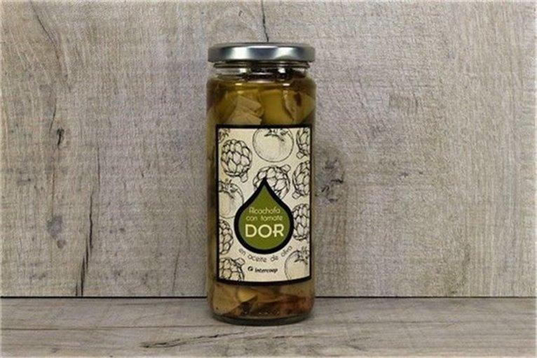 Alcachofas con tomate en aceite de oliva DOR