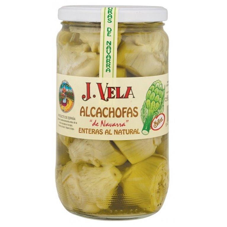 Alcachofas Enteras al Natural J. Vela 20-25 Piezas, 1 ud