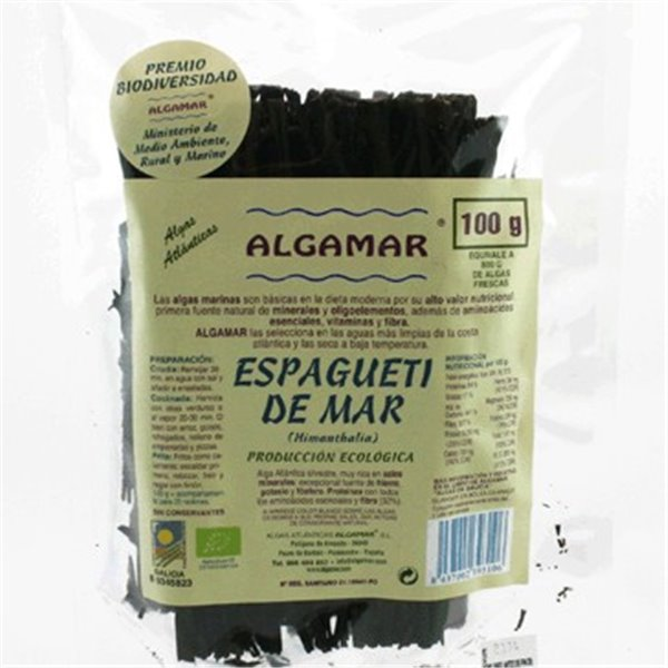 Alga Espagueti de Mar Bio 100g