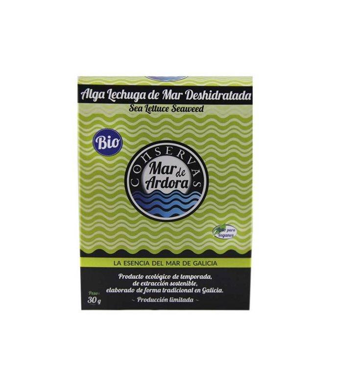 Dehydrated sea lettuce seaweed