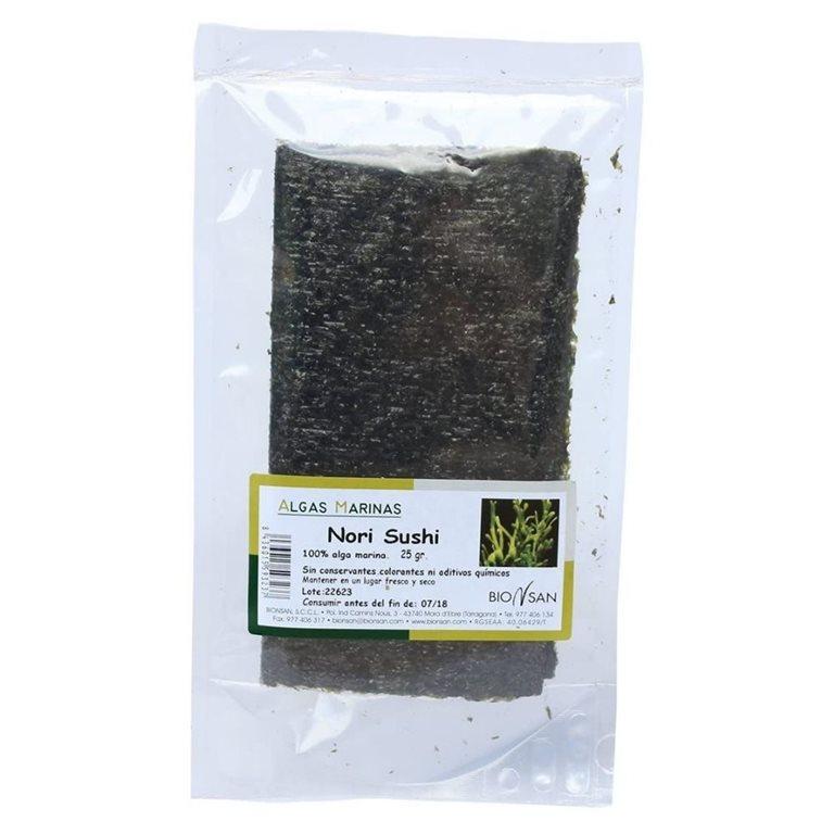 Alga nori sushi ecológica -25gr