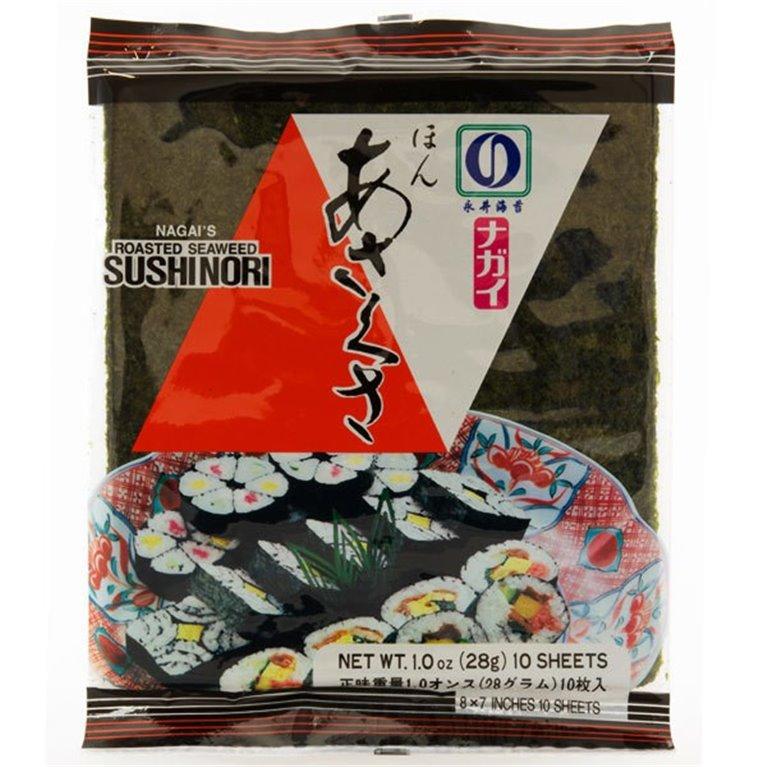 Alga Nori Tostada para Sushi 28g (10 hojas), 1 ud