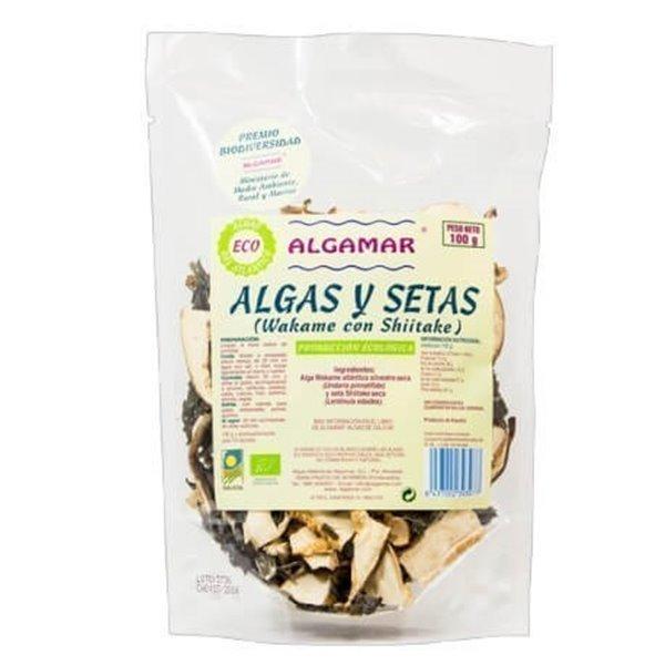 Algas y setas ( Wakame con shiitake)