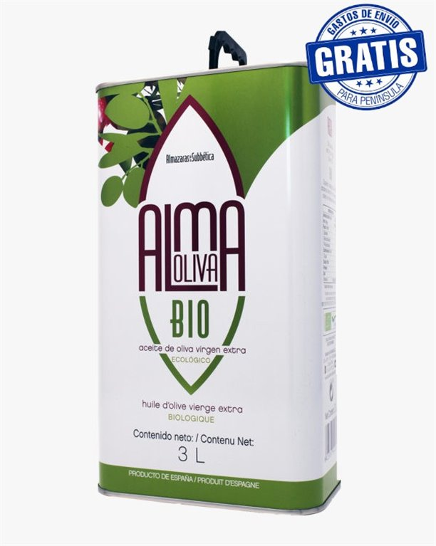 Almaoliva Bio. Caja de 4 latas de 3 litros.