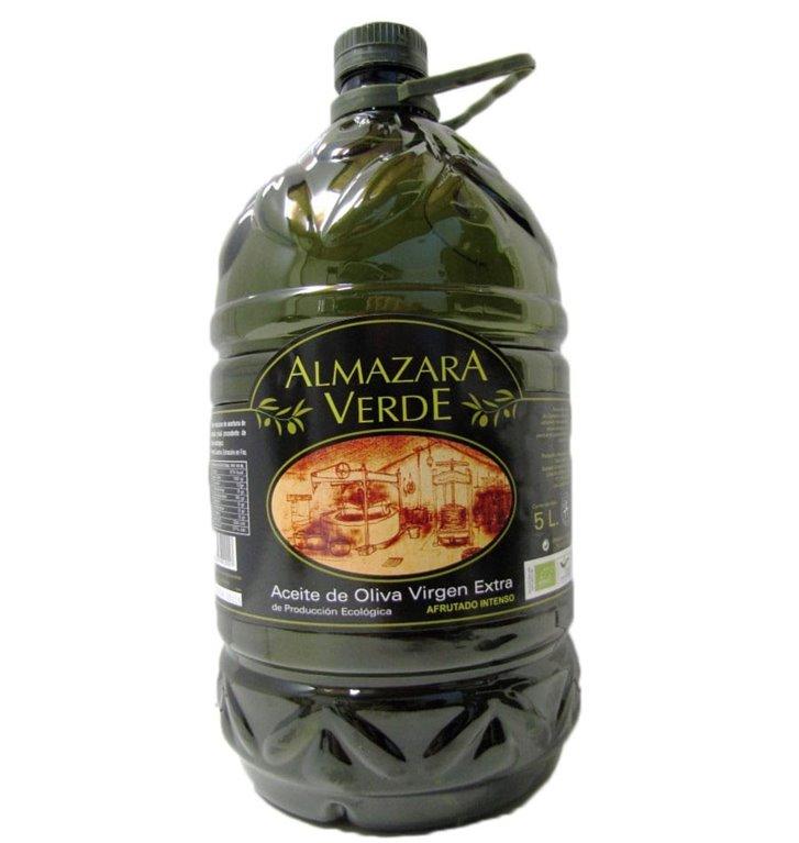 Almazara Verde ecológico. 5 litros