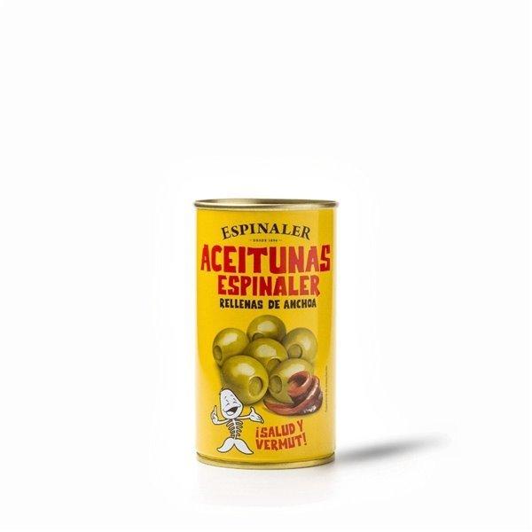Aceitunas Rellenas de Anchoa Espinaler 350 gr.
