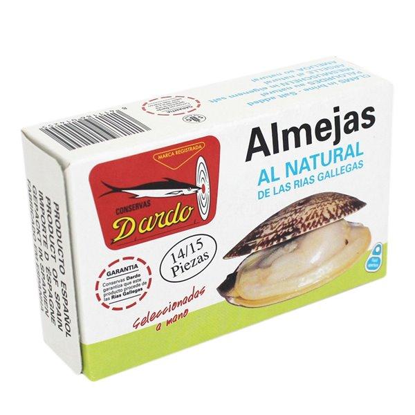 Almejas al natural de Rias Gallegas OL-120, 14/15u. Dardo. 25un.