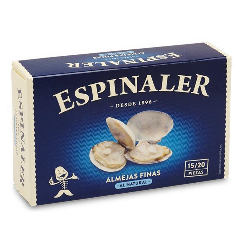 Almejas al natural OL-120 (15-20 piezas). Espinaler. 25un., 1 ud