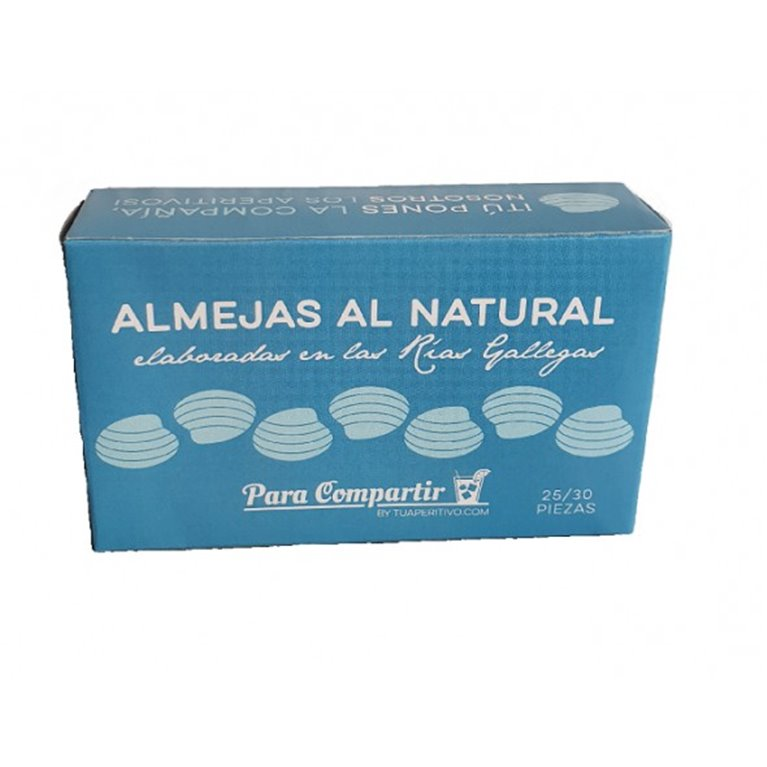Almejas al Natural Para Compartir 25-30 Piezas, 1 ud
