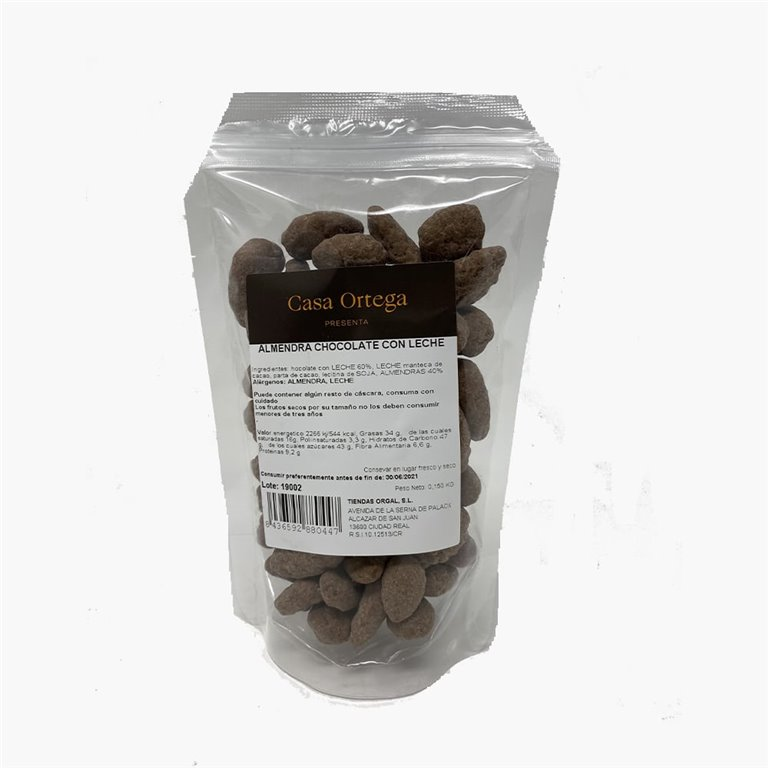 Almonds dipped in milk chocolate 150 g. Ortega House