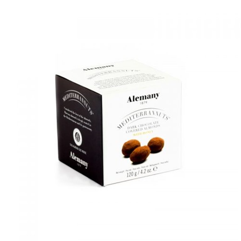 Almendra Marcona recubierta de chocolate negro