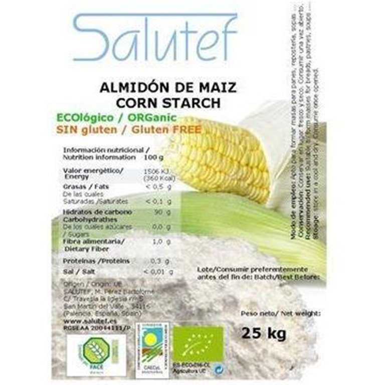 Almidón de Maíz Bio (Maicena) 25kg, 1 ud