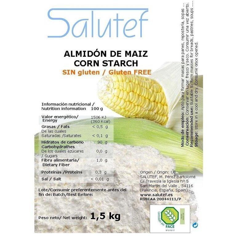 Almidón de Maíz (Maicena) 1,5kg, 1 ud