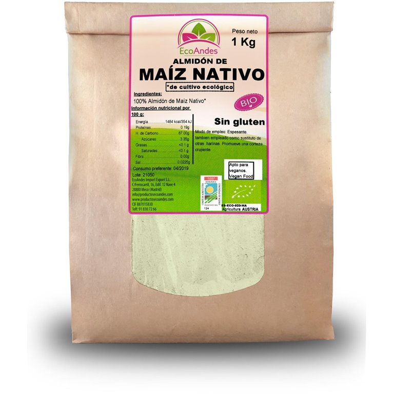 Almidón de Maíz Nativo Bio 400g, 1 ud