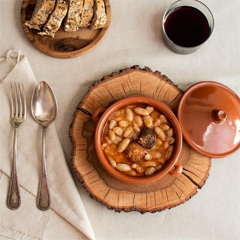 Alubias con chorizo ibérico - 400 g.