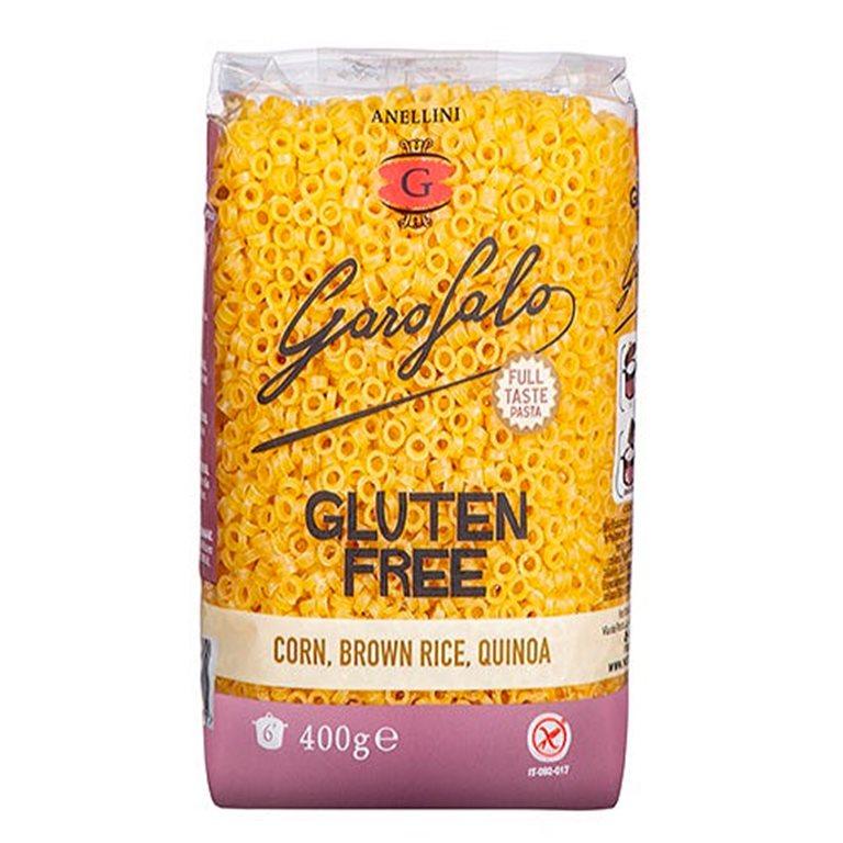 Anellini de Maíz con Arroz Integral y Quinoa Sin Gluten 400g
