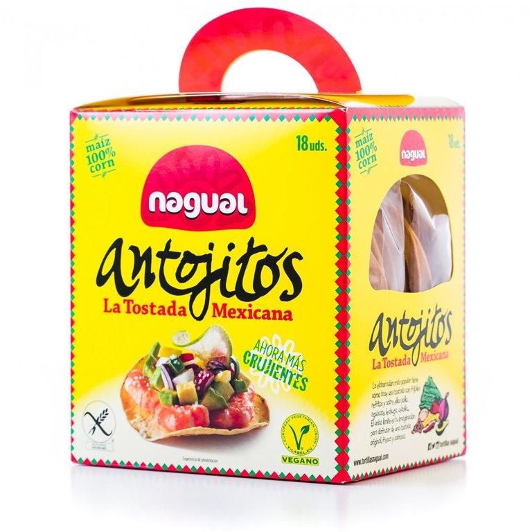 Antojitos Tostadas Mexicanas Sin Gluten 18 uds.