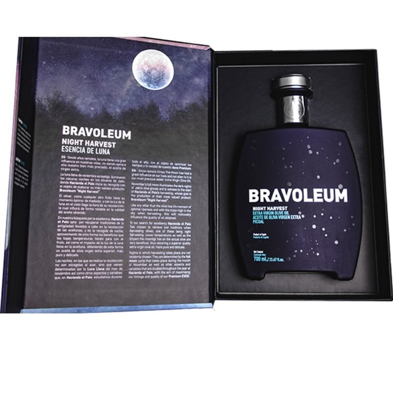 AOVE Bravoleum Night Harvest. Estuche con botella de 700 ml.