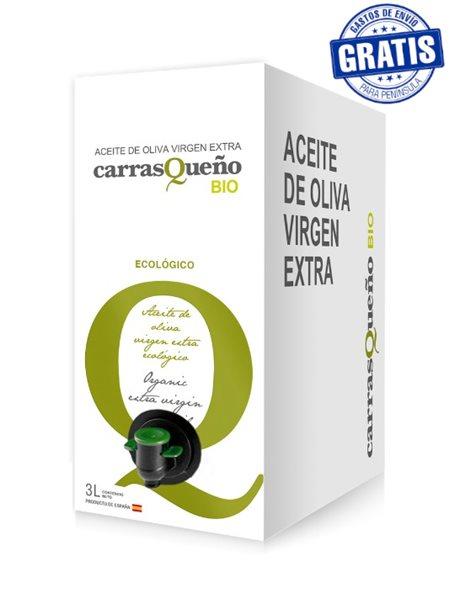 AOVE Carrasqueño ecológico. Caja de 4 Bag in Box de 3 litros.