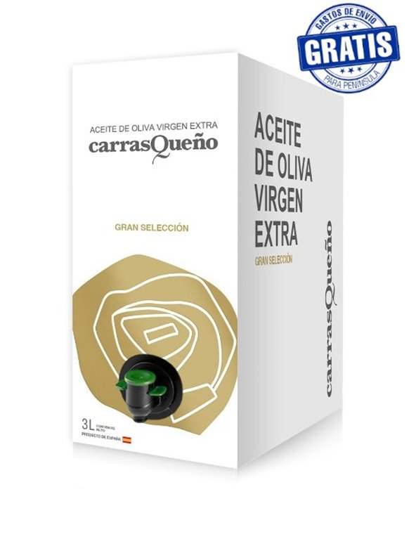 AOVE Carrasqueño Great Selection. Box of 4 Bag in Box of 3 liters.