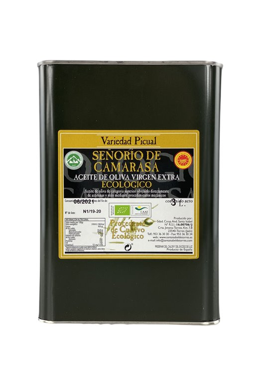 AOVE Ecológico Señorío de Camarasa. Lata de 3 litros.