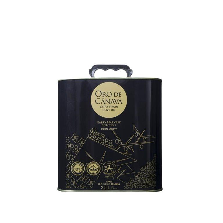 AOVE Oro de Cánava. Lata de 2,5 litros.