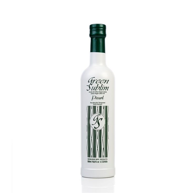 AOVE Picual Green Sublim. Caja de 12 botellas de 250 ml.