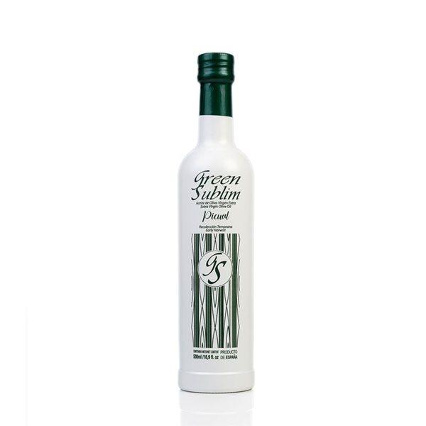 AOVE Picual Green Sublim. Caja de 3 botellas de 500 ml.