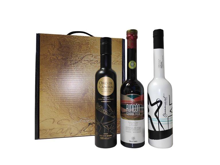 AOVE Premio Mario Solinas 2021. Estuche Regalo con 3 botellas de 500 ml.