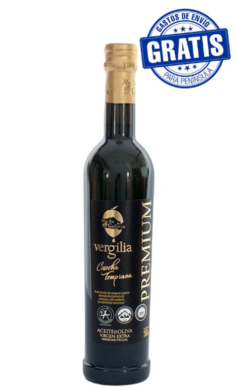 AOVE Vergilia Premium. Caja de 6 x 500 ml.