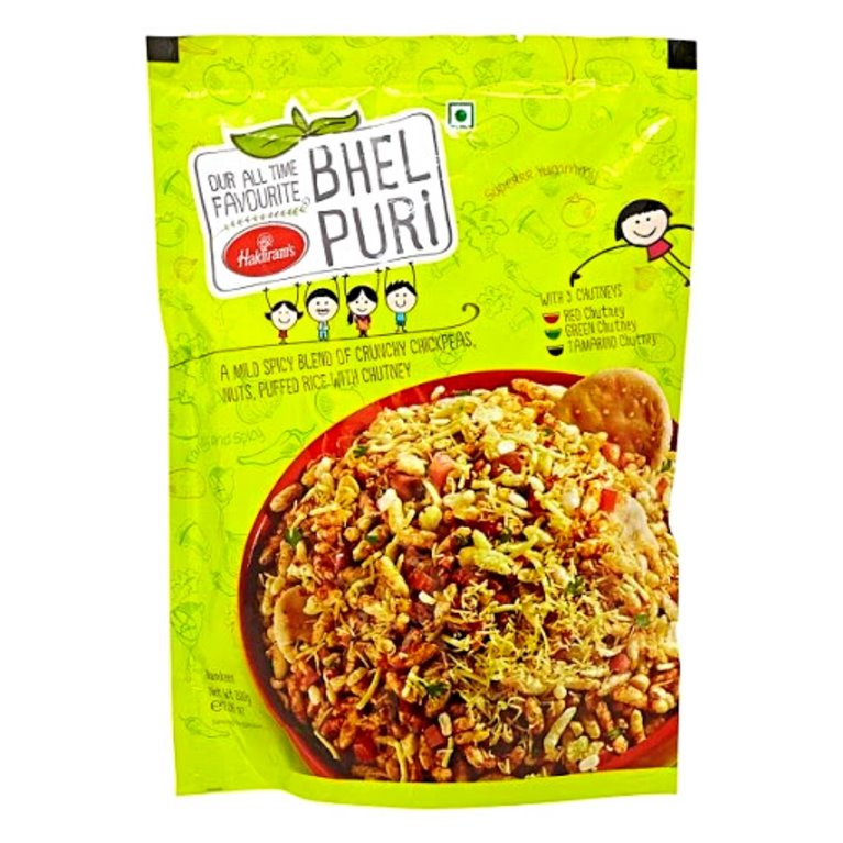 Aperitivos Bhel Puri para ensalada con salsa| Bhel puri with chutney  Haldiram 200g