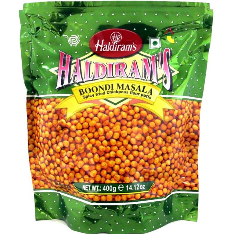 Aperitivos Boondi  para Raita (Salsa de Yogurt) | Haldiram Masala Boondi  for raita 200g