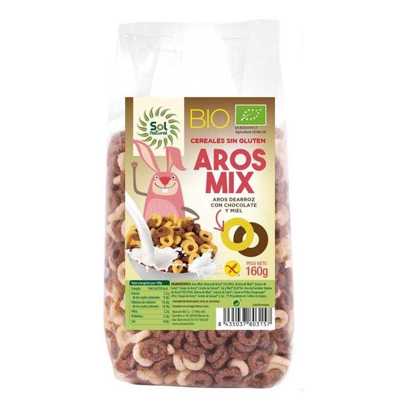 Aros de Arroz con Chocolate y Miel Sin Gluten Bio 160g