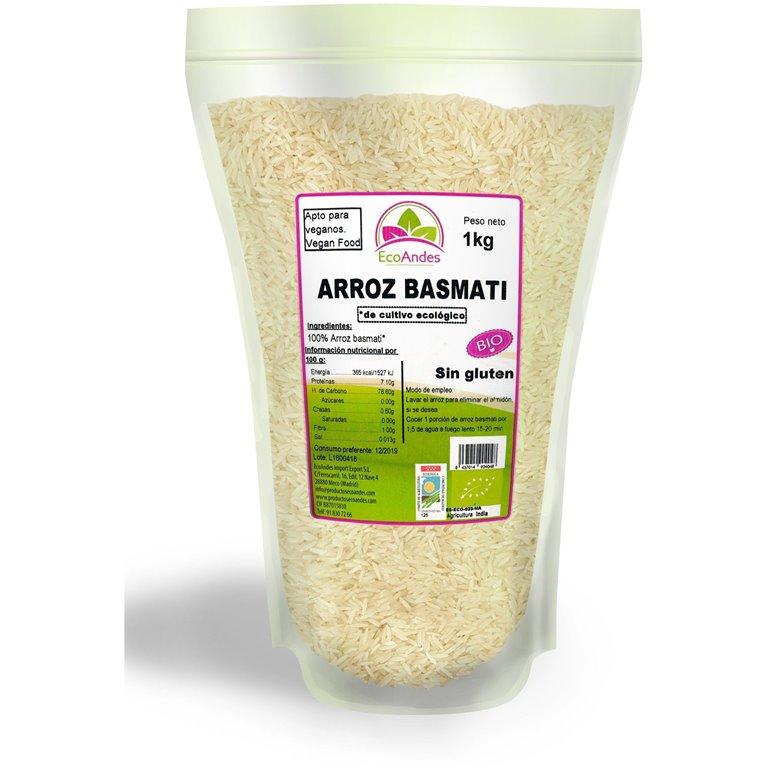 Arroz Basmati Blanco Bio 500g, 1 ud