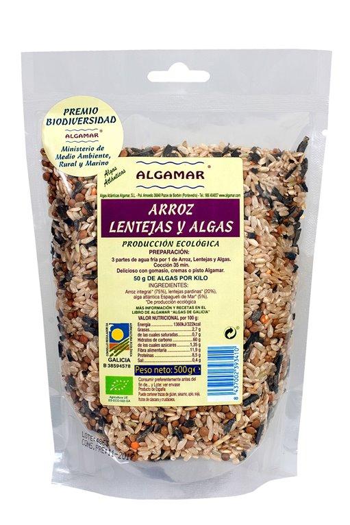 Arroz con Lentejas y Algas Bio 500g