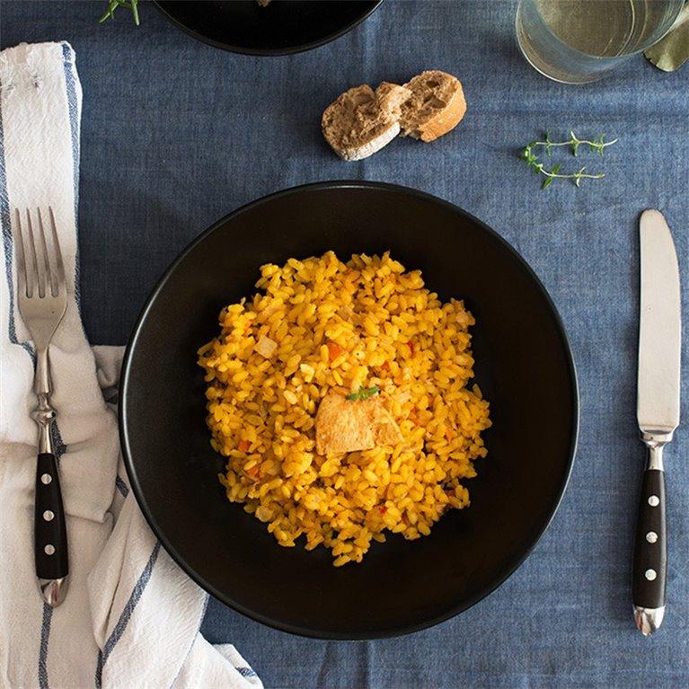 Arroz con pollo y setas - 350 g.