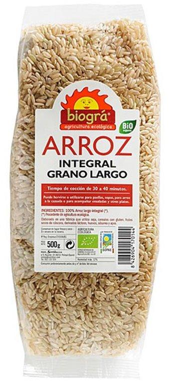 Arroz Integral Largo Bio 500g, 1 ud