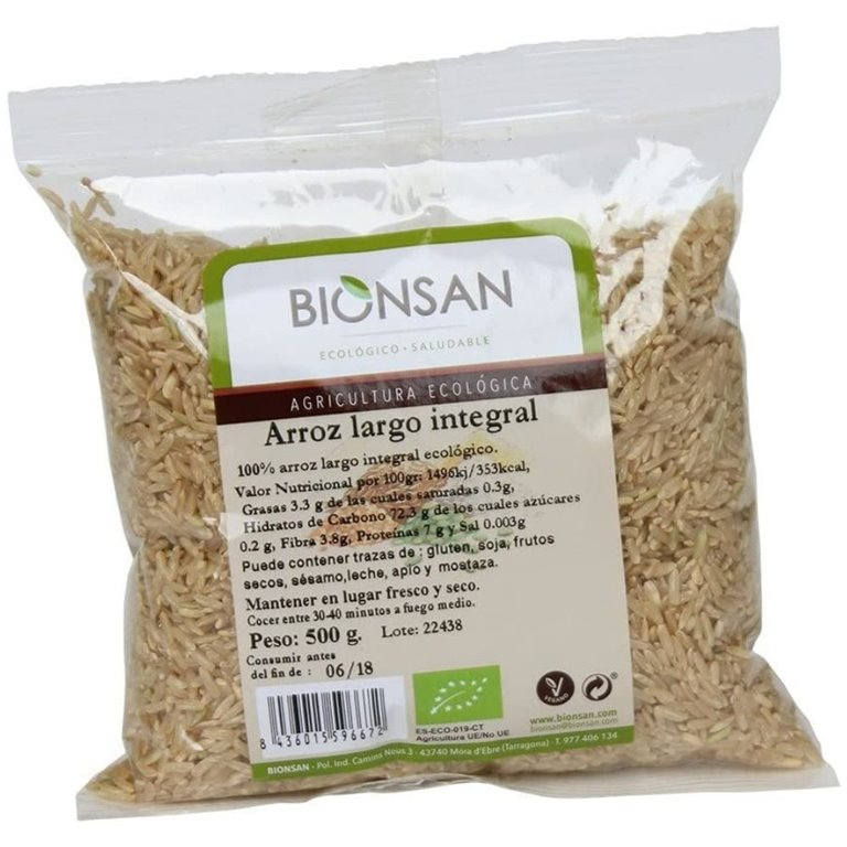Arroz largo integral ecológico -500gr